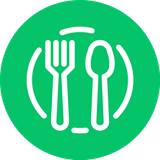 FoodWeb's filled green plate logo